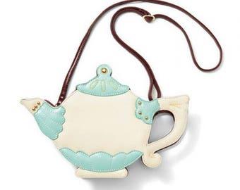 Wonderland Whimsy teapot crossbody purse