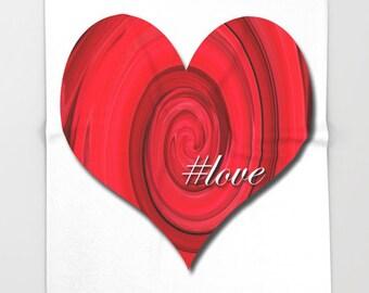 Red Heart Throw Blanket-Love Fleece Blanket-Romantic Decor-Fleece Blanket-#Love-Bed Blanket-Coral Fleece Throw Blanket-Modern Decor
