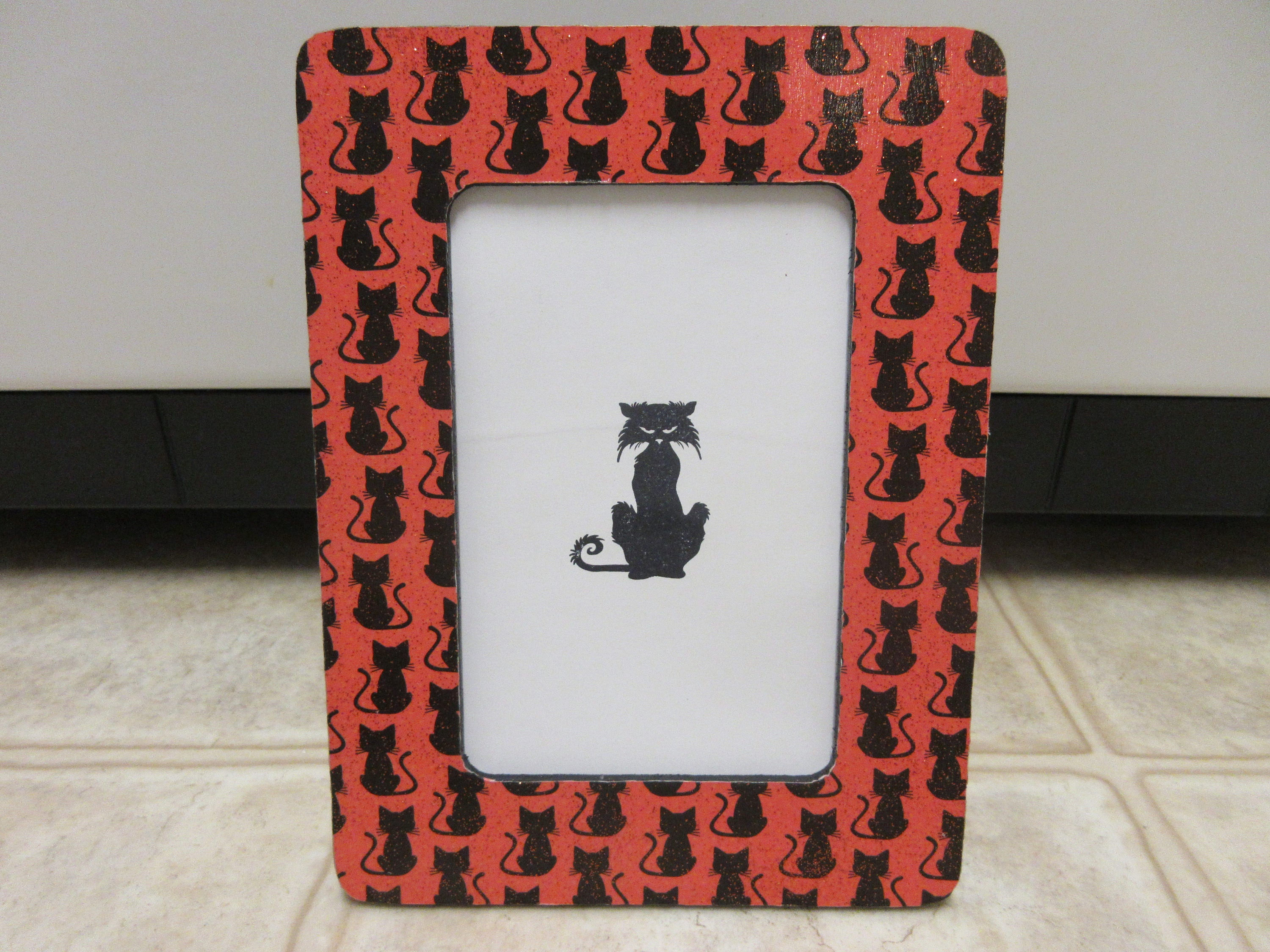 4 x 6 black cat halloween picture frame halloween zoom jeuxipadfo Choice Image