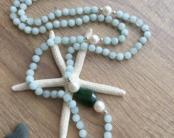 Amazonite Knotted Necklace