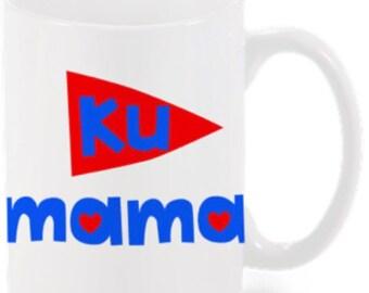 KU Mothers Day Mug-Coffee-Tea-College mug-Ku Jayhawks-Kitchen-Mug Packaging-Custom Mug-Personalized-Custom-Graduation Gift