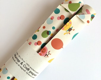 Giftwrap and craft paper - happy birthday ROLLED