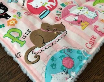 CAT FLANNELPet Mat PINK Cat Crate Bed Mat Pad, pet bedding, cat bedding, crazy cat lady, gift for cat lover, cat lover, comfy pet bed