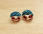 Clay Skulls Earrings...