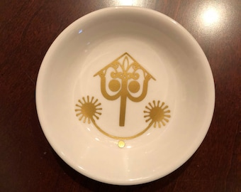 Disney It's a Small World inspired petite ring dish 3.75 inch round dish engagement gift
