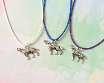 Wolf Necklace, Wolf party favors, wolf pack necklace, werewolf necklace, werewolf party favors, animal necklace, animal party favours gifts