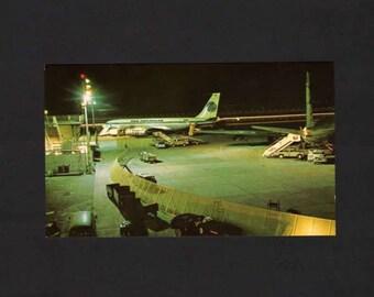 Pan American Airplane, Haneda,Tokyo Postcard, Japanese Postcard,UNUSED, Japan Postcard, Postcards, Plane Postcard, Pan American