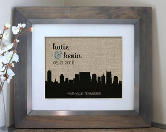 New York City Skyline Wedding Gift | Choose A City | Personalized Wedding Gift | Engagement Gift for Couple | Husband Gift | Boyfriend Gift