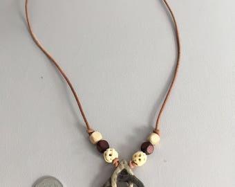 Antler Triquetra Celtic Knot Necklace