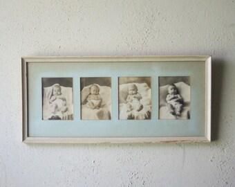 Antique Framed Baby Photos | Nursery Wall Decor | Vintage Infant Photographs | Framed Wall Art | Baby's Room Decoration | Sepia Photos