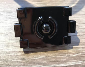 GUNMETAL turn lock, gunmetal press lock, decorative lock, turn lock for purses and bags, purse closure, lock