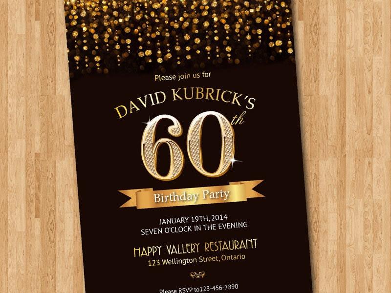 60 birthday invitation templates - Paso.evolist.co