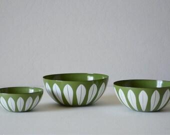 Cathrineholm Lotus Bowls - Catherine Holm - Mid Century Kitchen - Cathrine Holm - Lotus Nesting Bowls - Green Cathrineholm Bowl