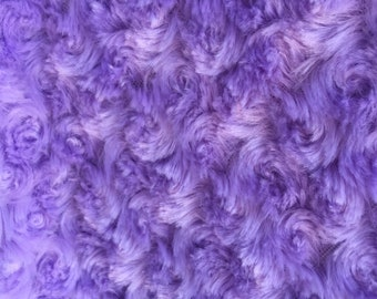 Ruth LAVENDER Cuddle Minky Rosette Soft Faux Fur Fabric by the Yard - 10083