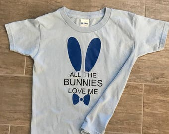All the Bunnies, Easter, Toddler Shirts, Easter Shirts, Boy Shirts, Girl Shirts, Pastel Easter Shirts