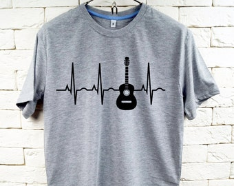 In Love With My Guitar Music Gray T-Shirt For Men