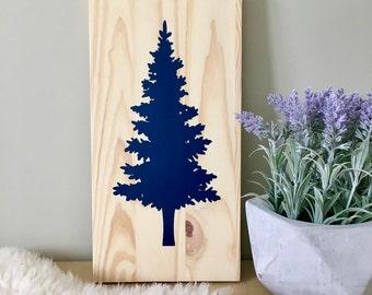 Wood Wall Art, Tree Painting, Spruce Tree, Pine Tree, Tree Art, Christmas Tree, Spruce Painting, Wall Décor, Home Décor, Christmas Décor