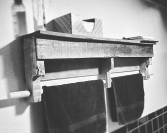 Reclaimed Wood Towel Rack