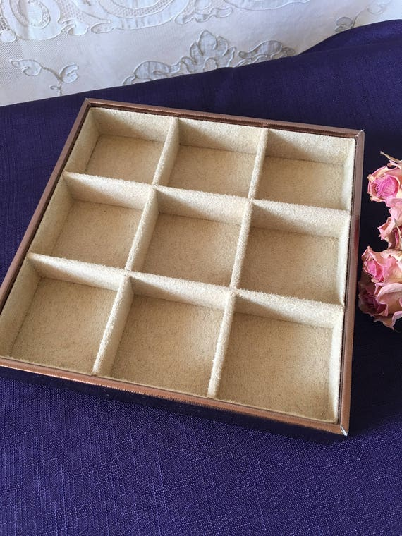 Supply Jewelry Tray Rose Gold and Beige Flocked Jewelry Keeper