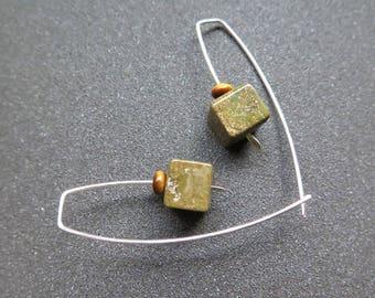 ocean jasper earrings. modern stone jewelry. tiger eye jewellery. made in Canada.
