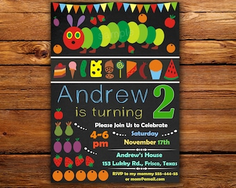 Hungry caterpillar invitation Etsy