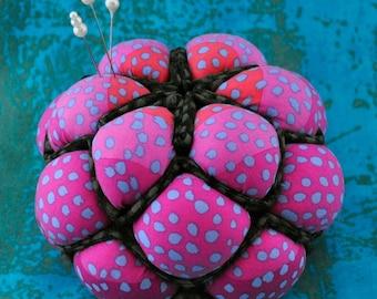 Berry Pincushion Pattern, Pincushion Bowl Tutorial, Fabric Bowl, Raspberry DIY Pincushion, Succulent Pincushion to Make, Fabric Pincushion