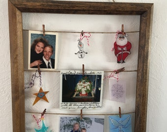 Upcycled picture frame photo /art board