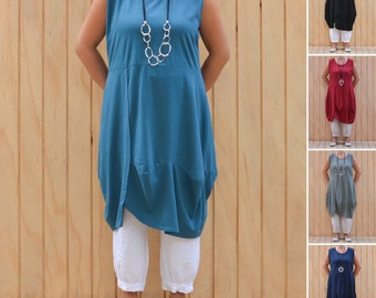 Ladies Lagenlook Womens Plus Sizes Tunic Dress Bohemian Cap Sleeve Quirky Artsy Summer Uk 14 16 18 20 22 24 26 l *SALE* D53