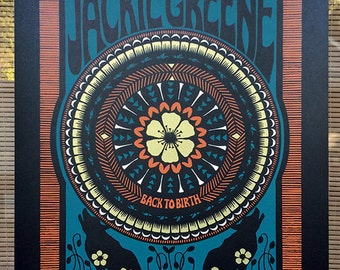 Variant - Jackie Green Back To Birth 2015 Tour Concert Poster