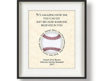 Baseball Coach Gifts - Personalized - Coach Gifts - Baseball Coach Gift Ideas - Gift from Team - Gifts for Baseball Coaches - It's Amazing