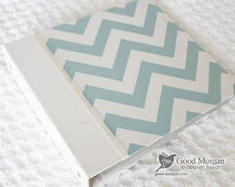 5 Year Baby Memory Book  - Chevron Blue