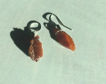 Lake Superior agate earrings
