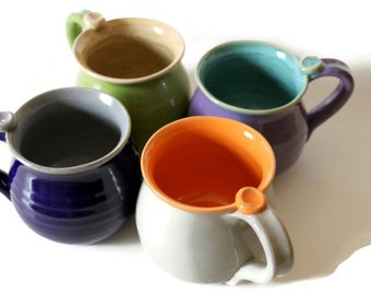 One Mug - Custom Made for You - in Your Choice of 2 Colors - Made to Order