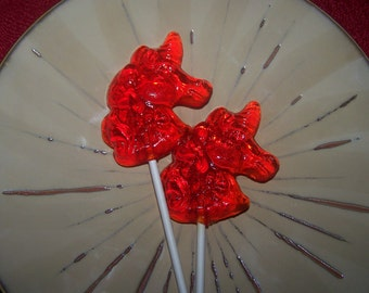 10 Unicorn Lollipop Sucker Whimsical Fantasy Party Favor