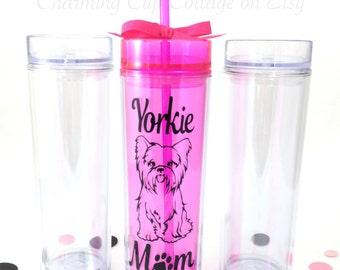 Yorkie Tumbler/Yorkie Lover/Yorkie Mom/Dog Lover/Dog Parent/Dog Lover Gift/Dog Tumler/I Love Yorkie Cup/Yorkie Cup/Yorkie Love