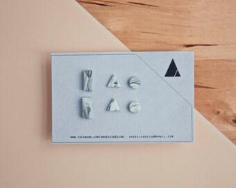 Earring Pack Klee · Geometric Earrings · Small Earrings · Minimum earrings · Simple Accessories · Gifts for her