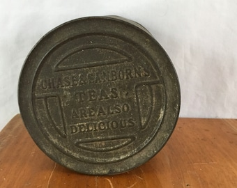 Antique chase and Sanborn coffee tin