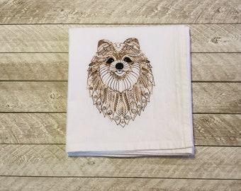 Flour Sack Towel-Pomeranian