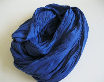 Tuareg Scarf also called Nomad Scarf - Royal Blue