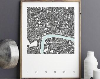 Map Art Print, LONDON Map Print, London Print, City Maps, Limited Edition Print, Modern Wall Art Prints, Map of London, Wall Prints