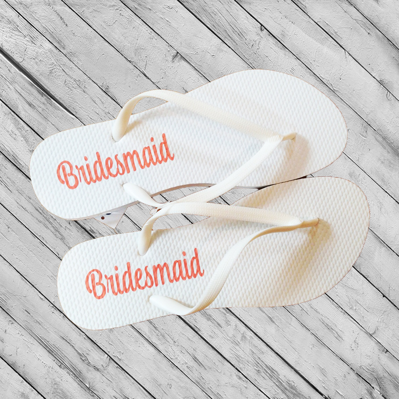 Bridesmaid Flip Flop DECALS ONLY Bridal Party Decals Flip