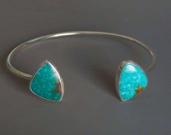 Turquoise bangle bracelet / bangle bracelet / turquoise bracelet / December birthstone / turquoise jewelry / Compass turquoise / gift