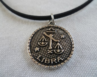 Libra choker,zodiac jewelry,black choker,gift,Libra necklace,zodiac choker,zodiac necklace,star sign,birthday,stars,astrology,birth sign