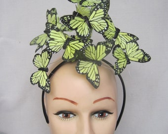 """Sunny Yellow 3""""  Monarch Butterfly Headpiece"""