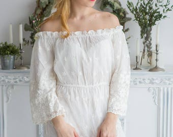 Illusion Bridal Jumpsuit from my Paris Inspirations Collection - Off the shoulder Style