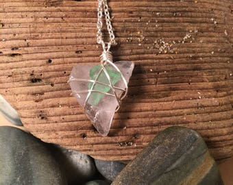 Maine sea glass necklace