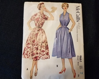 McCalls Misses Dress Pattern 9661