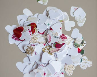 """100 heart confetti 1"""", table scatters, heart table scatters, Christmas wedding, Christmas home decor, table decor, Christmas party decor"""