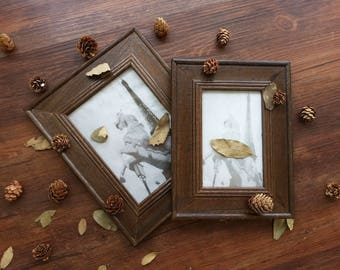 Retro Wood Photo Frame / Vintage Wood Photo Frame / Wood Picture Frame / Photography Props