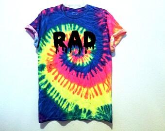 PREORDER neon rainbow tie dye RAD shirt